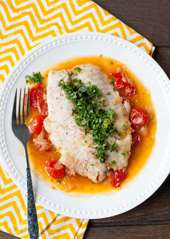 This tilapia showcases the best of summer tomatoes and comes together in 25 minutes.