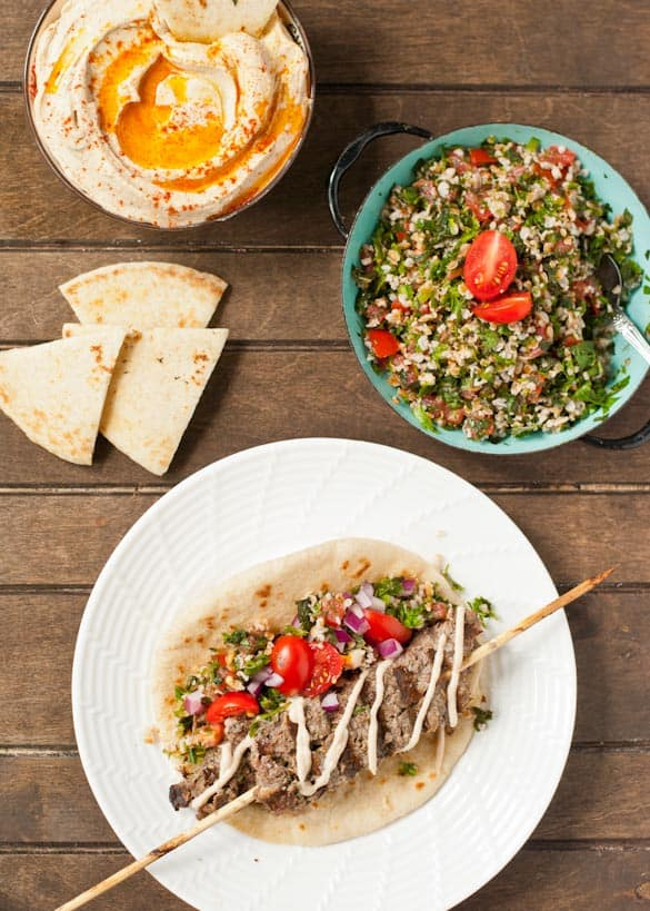 Beef Kafta Pita Sandwiches are light, fresh, and perfect for summer.