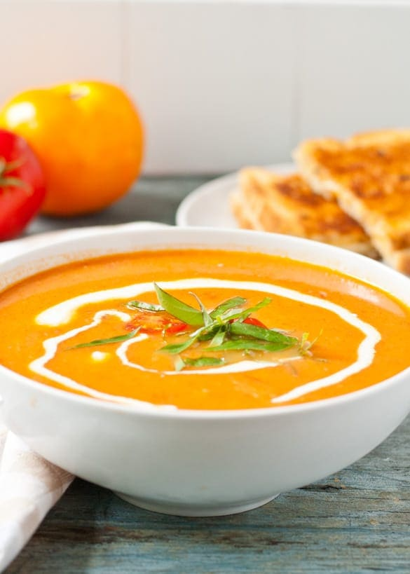 Make a big batch of Garden Tomato Soup to freeze and enjoy all winter long!