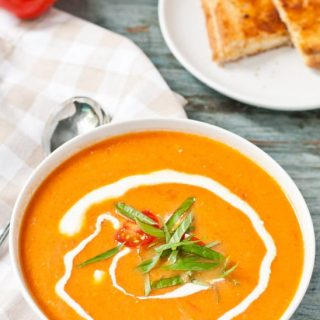 Easy Garden Fresh Tomato Basil Soup