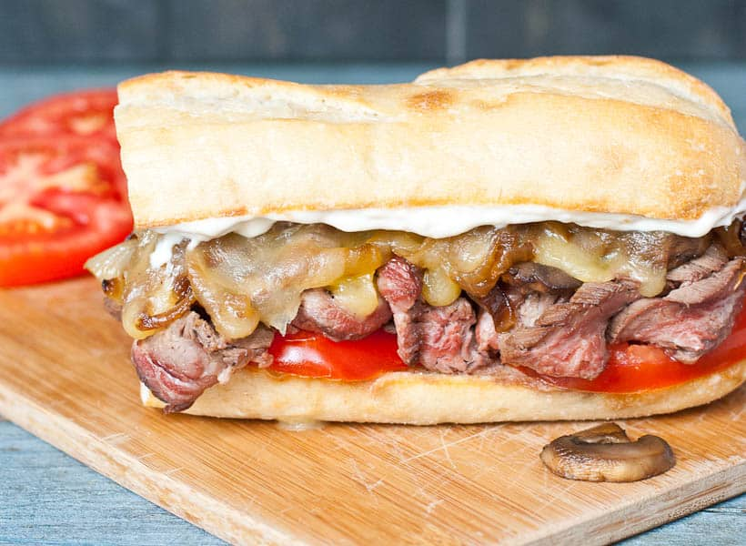 These Grilled Flank Steak Sandwiches are what tailgating dreams are made of.