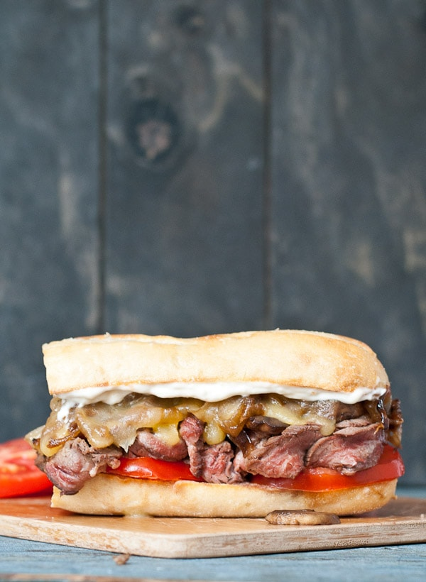 Grilled Flank Steak Sandwiches with Caramelized Onions and Mushrooms # ...