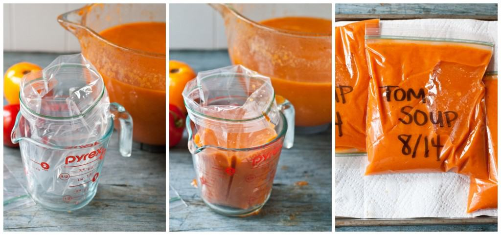 How To Freeze Fresh Garden Tomato Soup