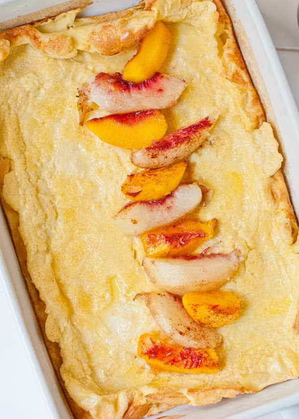 This German Pancake is made in your blender and ready in under 30 minutes!