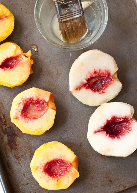 German Pancakes with Cinnamon Peaches--an impressive breakfast made in less than 30 minutes.
