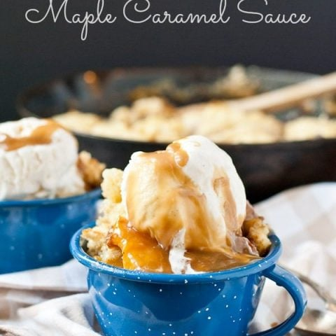 Peach Slump With Maple Caramel Sauce