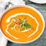 Easy Garden Fresh Tomato Basil Soup #SundaySupper