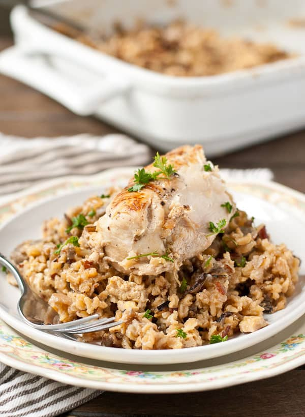 Savory and comforting, this Chicken and Mushroom Wild Rice Pilaf will become a classic in your family.