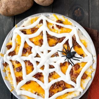 Spooky Loaded Mashed Potato Casserole