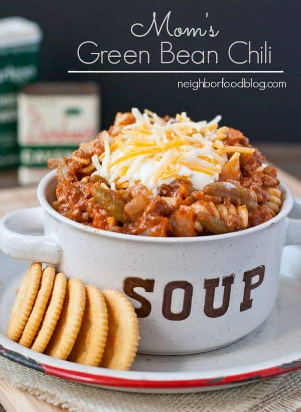 This Green Bean Chili is easy to make and great for kids!