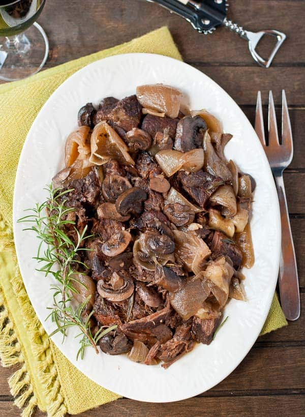 Let the crock pot do all the work with this Rosemary Mushroom Pot Roast