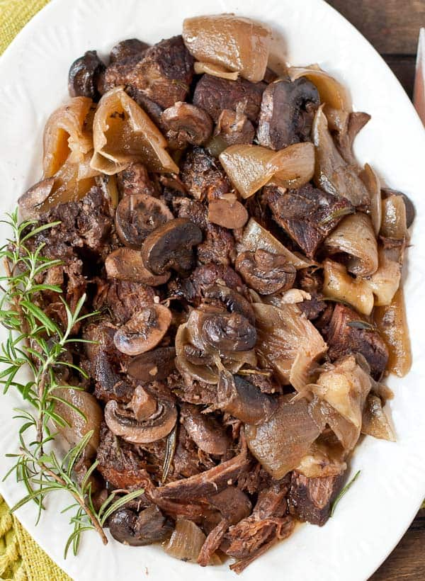 It doesn't get any easier than this Slow Cooker Rosemary and Mushroom Pot Roast!
