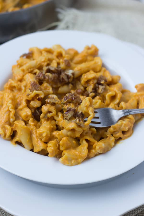 Creamy-Pumpkin-Pasta-sauce-with-crunchy-brown-bugar-pecans.-You-have-to-try-to-truly-understand-just-how-fantastic-this-pasta-dish-is-fishernuts-ohsweetbasil.com-5
