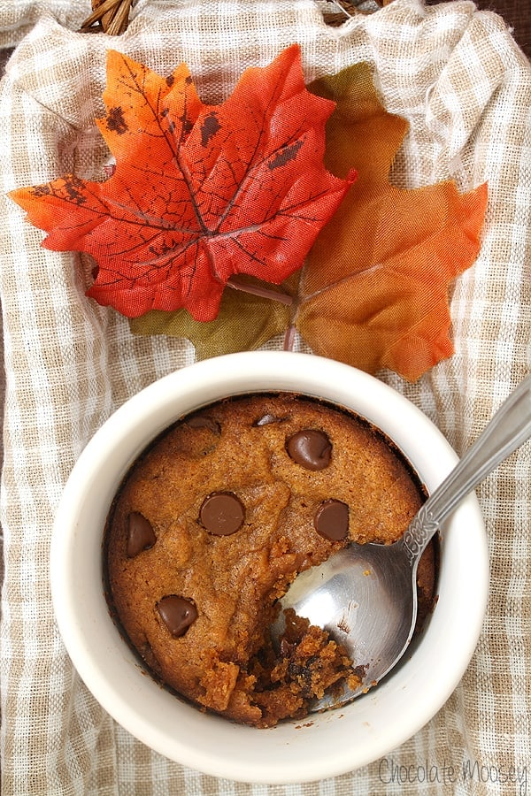 Single-Serving-Pumpkin-Chocolate-Chip-Cookie-1 tablespoon