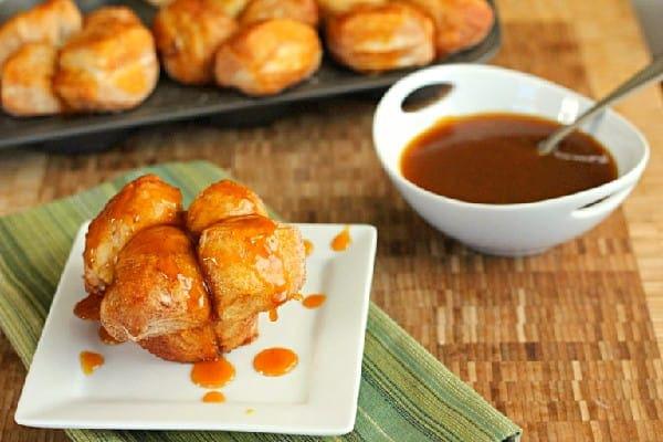 pumpkin caramel monkey bread 1:3