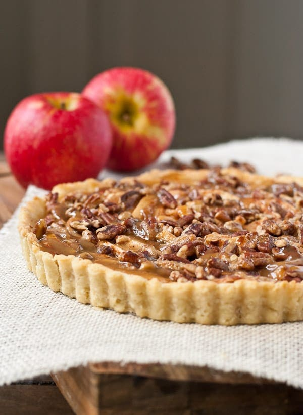 This Salted Maple Caramel Apple Tart is a quintessential fall dessert.