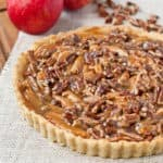 Salted Maple Caramel Apple Pecan Tart