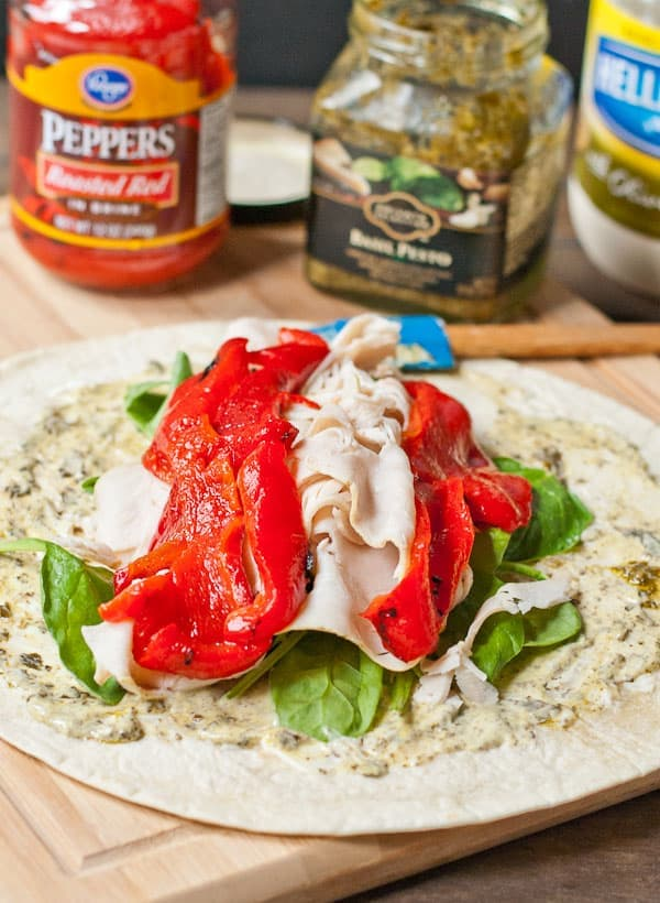 Spinach, Turkey, and Feta Wrap