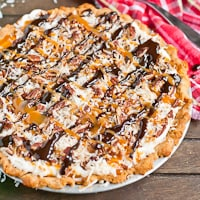 Coconut Pecan Turtle Cream Cheese Pie