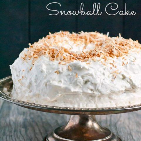 Coconut Sour Cream Chocolate Snowball Bundt Cake