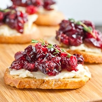 Roasted Cranberry Brie Appetizer