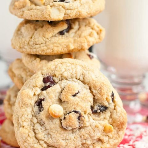Gluten Free White Chocolate Cranberry Coconut Macadamia Nut Cookies