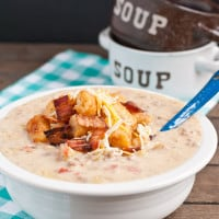 Slow Cooker Bacon Cheeseburger Soup from Neighborfoodblog.com