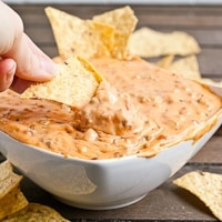 Three Ingredient Slow Cooker Queso