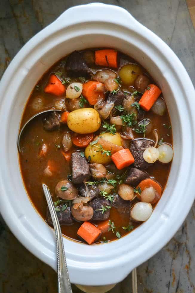 slow cooker beef bourguinon viewfromgreatisland