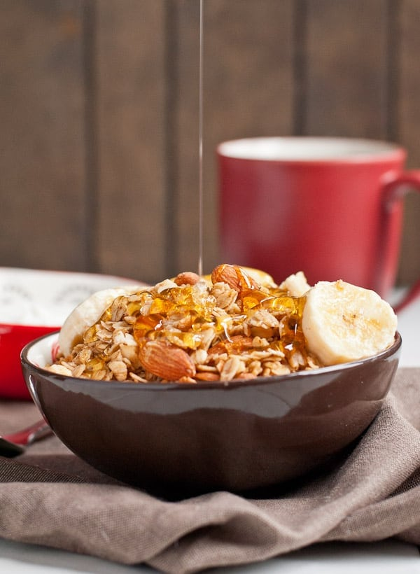 Honey Nut Granola made in the slow cooker!