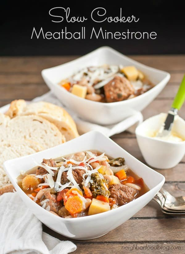 This Slow Cooker Minestrone Soup is an easy and comforting winter meal.