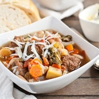 Slow Cooker Meatball Minestrone