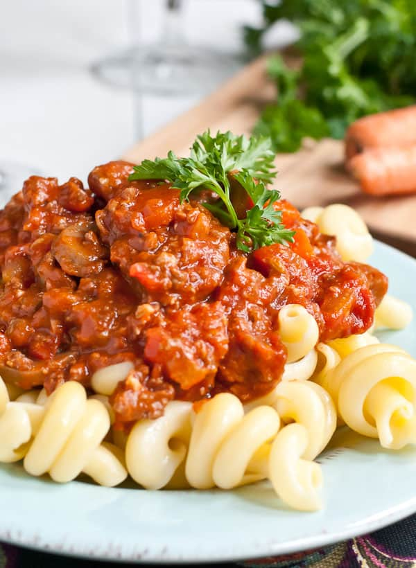 You'll want to make this Crock Pot Sausage Ragu a regular on your dinner rotation.