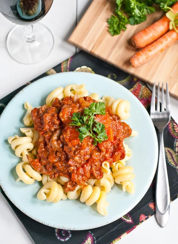 Make this Slow Cooker Sausage Ragu on a cold winter night.