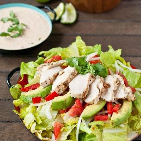Healthier Chicken Taco Salad from neighborfoodblog.com