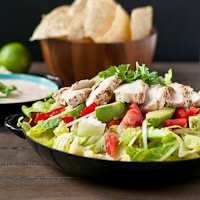 Chipotle Chicken Taco Salad {Gluten Free}