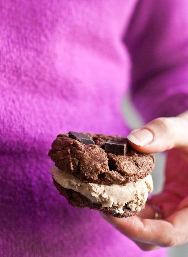 Chocolate Cookie Coffee Ice Cream Sandwiches | Neighborfoodblog.com