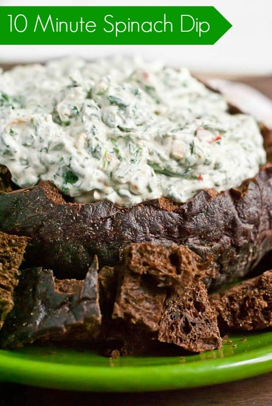 Spinach Dip Recipe in a Bread Bowl via Neighborfoodblog.com