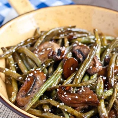 Roasted Teriyaki Green Beans from Neighborfoodblog.com