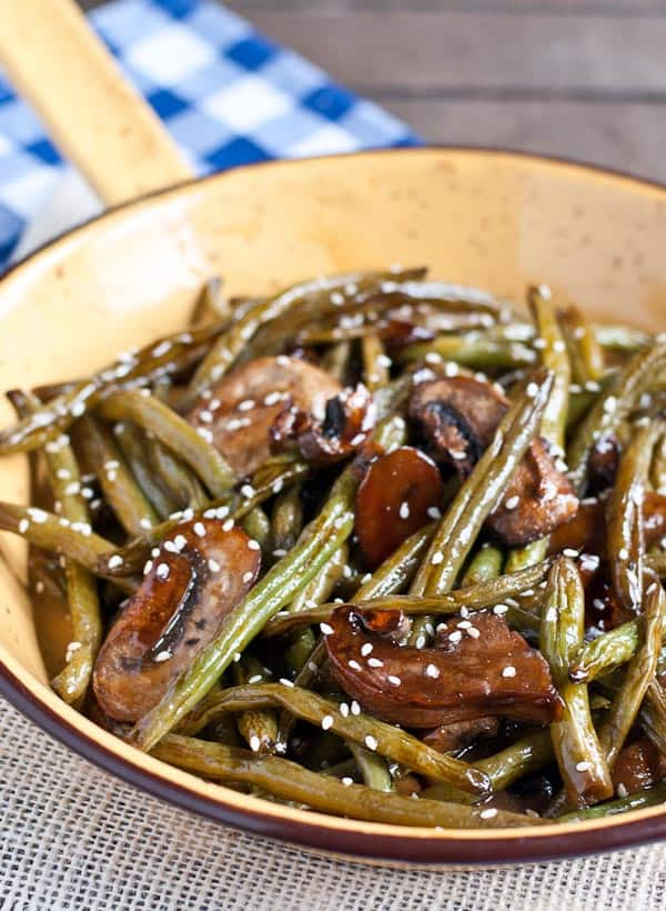 Roasted Teriyaki Green Beans | Neighborfoodblog.com