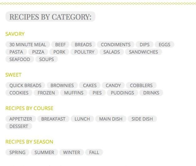 Recipes Category screenshot
