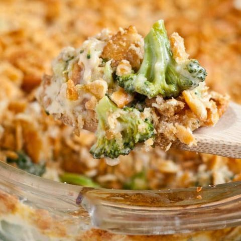 From Scratch Broccoli Cheese Casserole with Ritz Crackers | Neighborfoodblog.com
