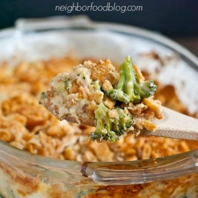 Roasted Broccoli Cheese Casserole with Ritz Crackers | Neighborfoodblog.com
