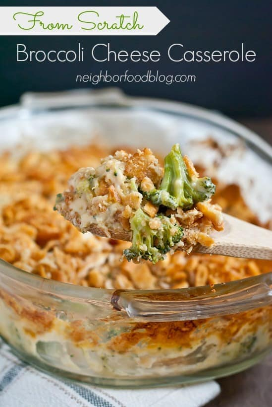 Roasted Broccoli Cheese Casserole with Ritz Crackers   Neighborfoodblog.com