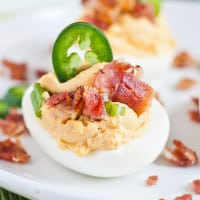 Jalapeno Popper Deviled Eggs | NeighborFood