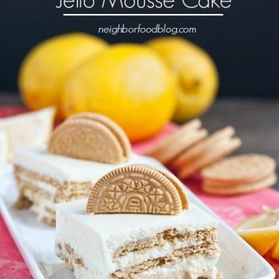 Lemon Jello Mousse Cake from Neighborfoodblog.com