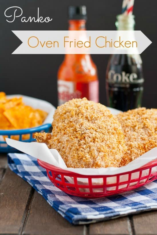 Panko Oven Fried Chicken via NeighborFoodBlog.com
