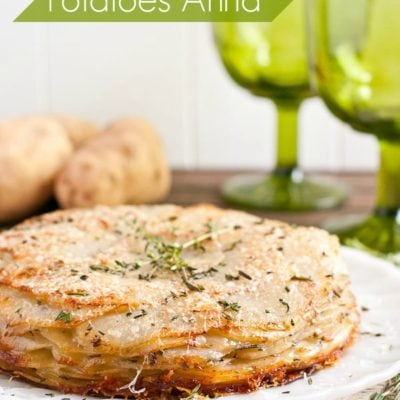This Herbed Potatoes Anna Recipe is the perfect holiday side dish!