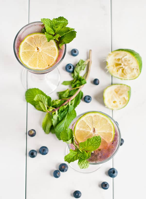 Blueberry Mojito Mocktails from NeighborFoodBlog.com