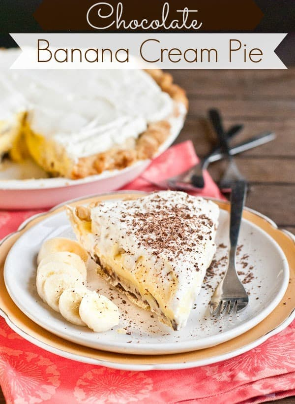 Chocolate Banana Cream Pie via NeighborFoodBlog.com